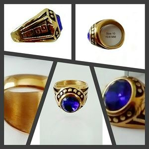 Other - HANDSOME MEN'S STAINLESS STEEL RING SIZE 10